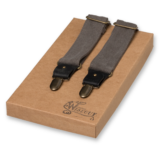 Wiseguy Suspenders - The Duck Canvas Grises (1)