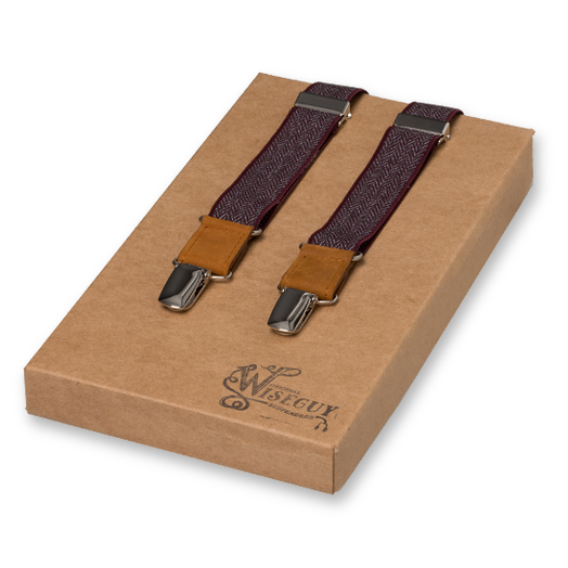 Wiseguy Suspenders - The Herringbone Granates (1)