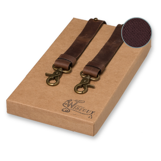 Wiseguy Suspenders - Crazy Horse Flex - Marrón  (1)