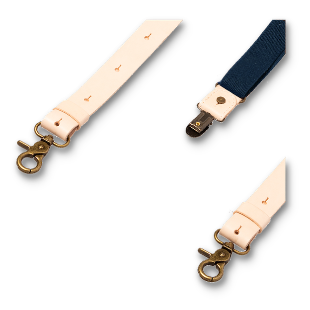 Wiseguy Suspenders - Crazy Horse Flex Dark Blue in Raw (3)