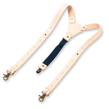 Wiseguy Suspenders - Crazy Horse Flex Dark Blue in Raw - Thumbnail 2