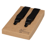 Wiseguy Suspenders - Charger Heavy all Black - Thumbnail 1
