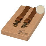 Wiseguy Suspenders - Crazy Horse Flex- Camel Off White - Thumbnail 1